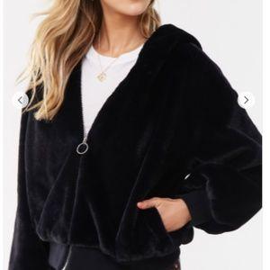 Faux Fur Hooded Coat (XL)